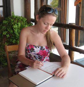 writing on skyros