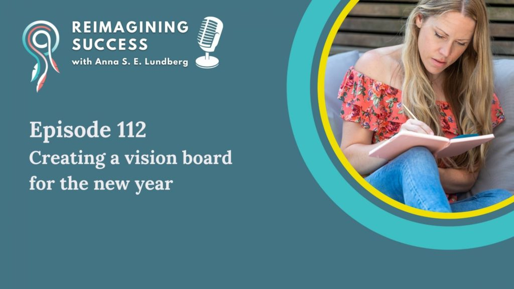 creating vision board for new year